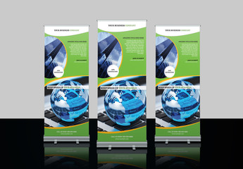 Advertising Roll-Up Banner Layout