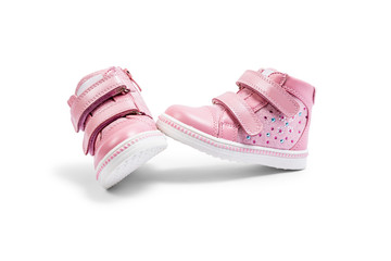5c1be6221c03 the pink children s sneakers isolated on a white background