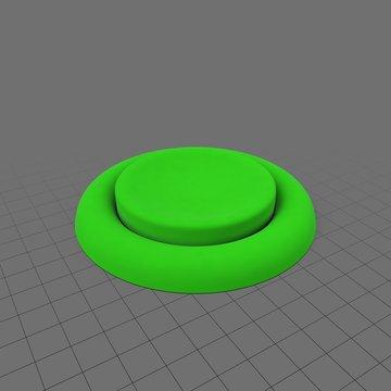 Small green push button