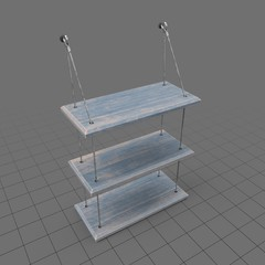 Three-tier bathroom shelf