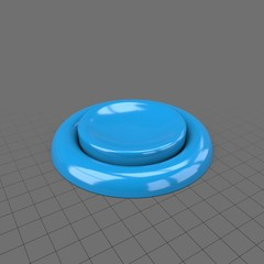 Small blue push button
