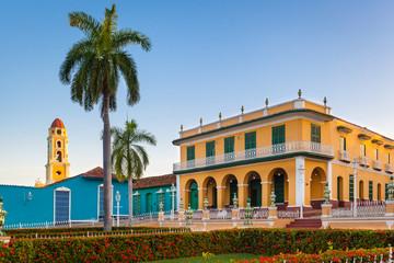 View of Romance Museum (Museo Romantico), Plaza Mayor, Trinidad, Cuba