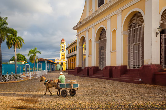 Church of the Holy Trinity overlooking Plaza Mayor,  Trinidad, Cuba