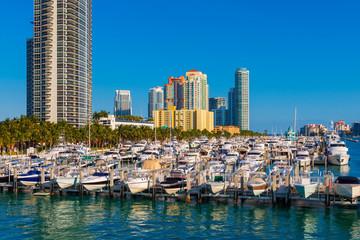 Marina in Miami South Beach Florida