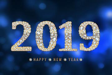 happy new year 2019 diamonds