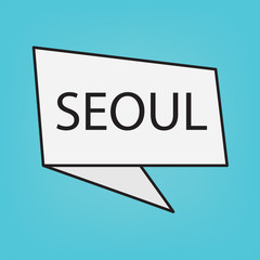 Seoul word on a sticker- vector illustration