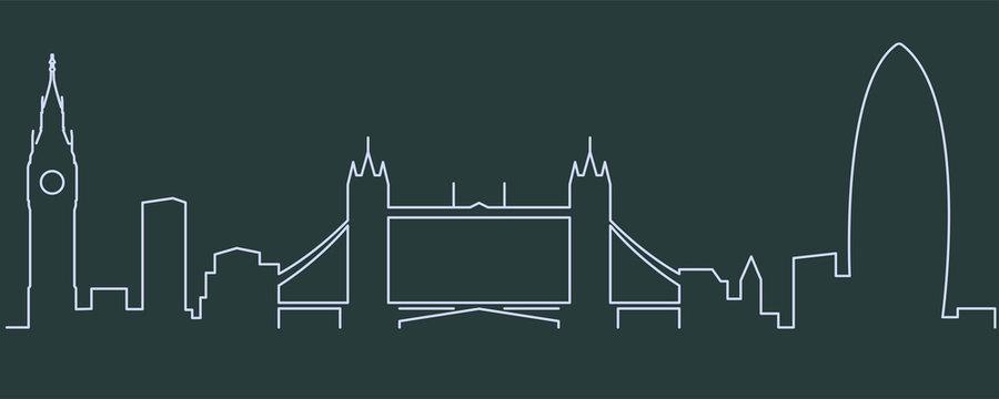 London Single Line Skyline