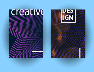 Modern Abstract colorful Fluid shapes composition for poster design. Minimal brigth covers set for flyer, cover, brochure