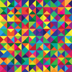 Seamless Pattern with Triangle Shapes of Different colors