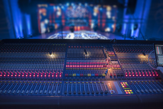 sound equipment at the concert