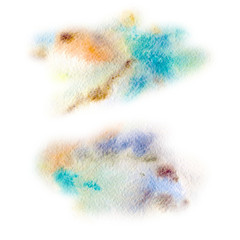 Watercolor stains for background. Abstract texture.