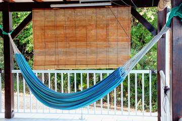 Hamac sur une terrasse en Guadeloupe