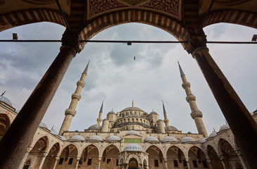 Sultan Ahmed Mosque in Istanbul, Turkey in a beautiful summer day