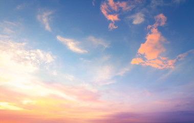 World environment day concept: Sky autumn sunset background