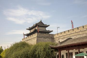 Keuken foto achterwand Xian Old south wall and pagoda, Xian, China