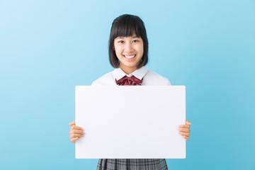 女子学生 ホワイトボード