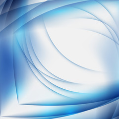 Abstract blue background with geometric pattern of lines. Wave and distortion of forms.