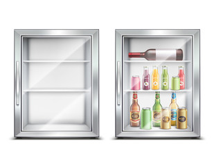Mini Bar Fridge Set