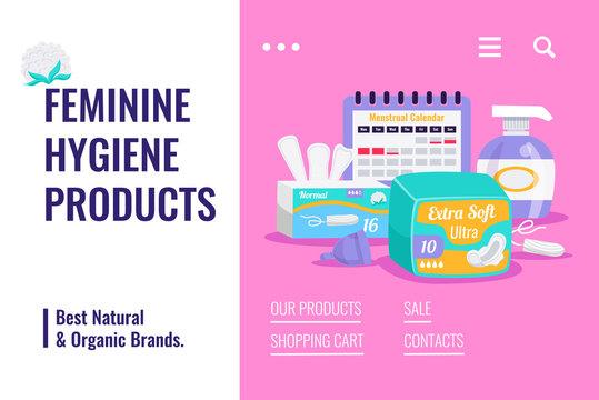 Feminine Hygiene Products Banner