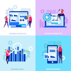 Business Analytics Flat Design Concept