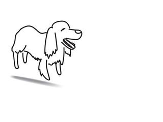 doodle freehand vector illustration of irishsetter dog