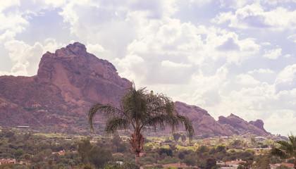 Wall Mural - Camelback Mountain range in ,Scottsdale,Phoenix,Arizona,USA