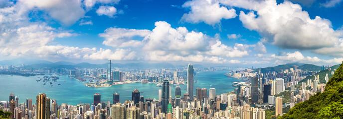 Foto op Aluminium Hong-Kong Panoramic view of Hong Kong