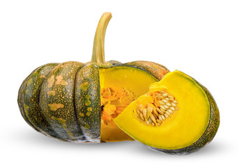 pumpkin isolated on white with clipping path