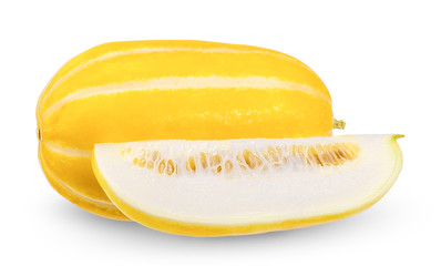 Korean melon isolated on white clipping path