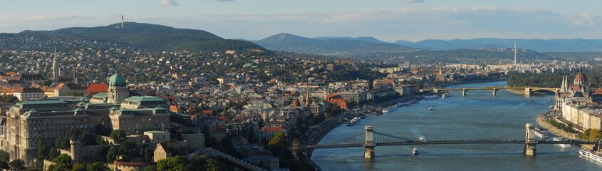 Панорама Будапешта с горы Геллерт