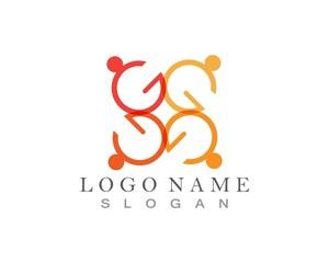 Community people care logo G letter