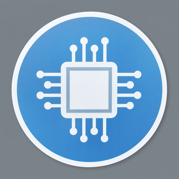 Isolated motherboard icon illustration