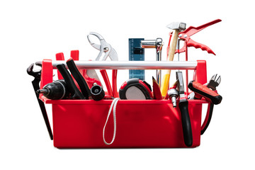 Different Worktools In Red Toolbox