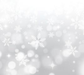 White Snowy Christmas Background