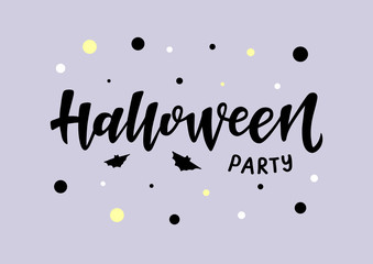 Halloween party vector lettering