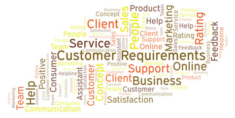 Customer Requirements word cloud.