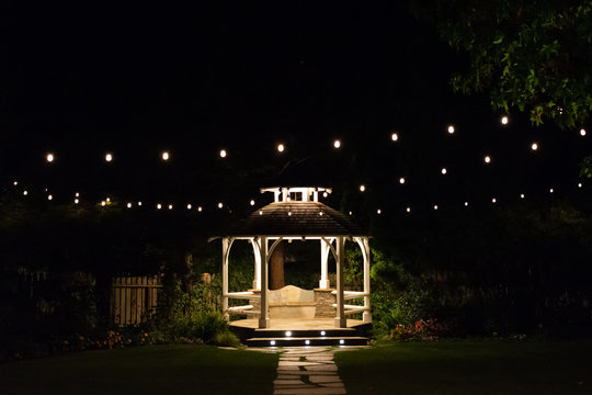 Gazebo Lights at Night