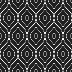 Seamless background for your designs. Modern ornament. Geometric abstract black and white pattern