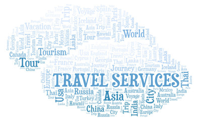 Travel Services word cloud.