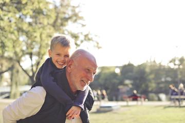 Grandpa and grandson time