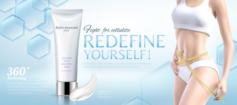 Body shaping cream ads