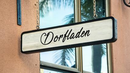 Fototapete - Schild 341 - Dorfladen