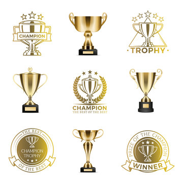 Trophy Cups for Win in Competition or Tournament