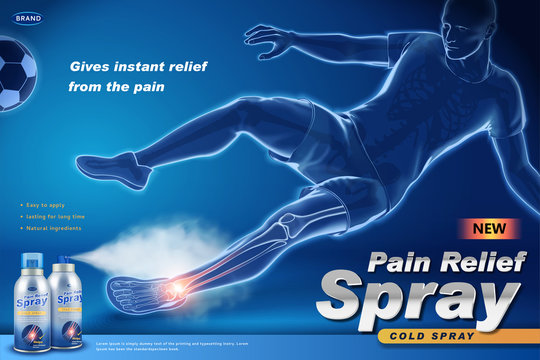 Pain relief spray ads