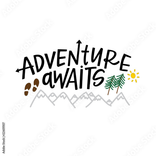 Quot Adventure Awaits Quot Stock Image And Royalty Free Vector