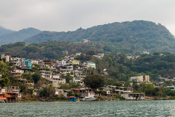 View of Santiago Atitlan village, Guatemala