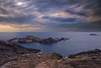 A sunrise on the sea of the Costa Brava