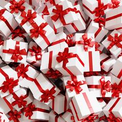 Geschenk Hintergrund zu Weihnachten in rot weiß
