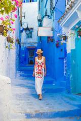 Garden Poster Morocco cute woman traveling to morocco
