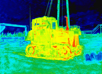 Thermography construction machinery